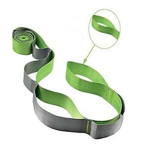 12 Rooster Yoga Belt Stretch Splitst weerstand band  grootte: 250 x 3 8 cm (Groen)