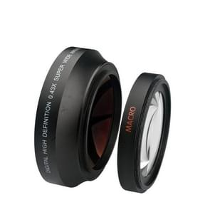 67mm 0.43X Super Wide Angle Fisheye Lens met macrolens voor Canon