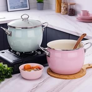 Email soep pot ongecoate voedingssupplement pot voor inductie fornuis (roze )