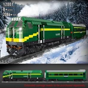12001 NJ2 Internal Combustion Locomotive Remote Control Green Train Puzzle Geassembleerd Building Block Children Speelgoed Model