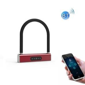 Fietswachtwoord U-Lock Smart Bluetooth Anti-Theft Hanglock (Rood)