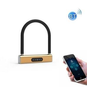 Fietswachtwoord U-Lock Smart Bluetooth Anti-Theft Hangslot (Golden)