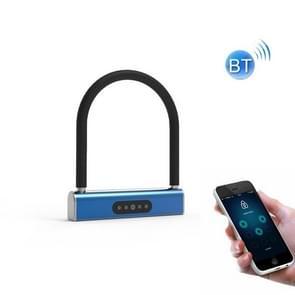Fietswachtwoord U-Lock Smart Bluetooth Anti-Theft Hanglock (Blauw)