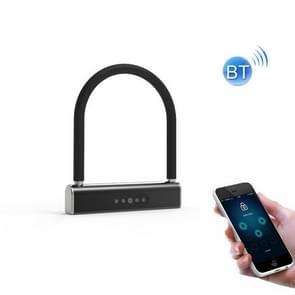 Fietswachtwoord U-Lock Smart Bluetooth Anti-Theft Hangslot (Zwart)