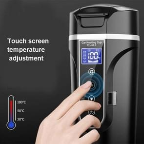 450ml Auto verwarming waterfles Thermos Mok Car Truck Universal Boiling Water Cup  Style: Home Car Dual-use (Wit)