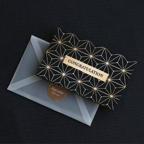 6 PCS Creative Business Bronzing Thanksgiving Birthday Card(Congratulation )