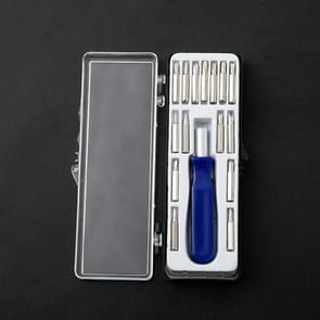 10 sets multifunctionele magnetische schroevendraaier set  specificatie: 16 in 1