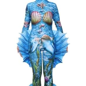 Halloween Kostuum Carnival Party Performance Props Afdrukken Cosplay Mermaid Panty's  Grootte: Gratis maat
