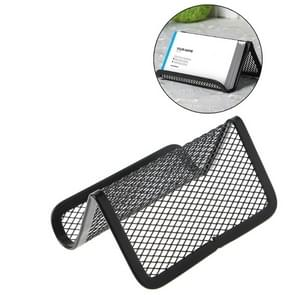 5 PCS Office Convenient Practical Metal Mesh Card Holder