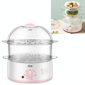 LINGRUI Timer Mini Multi-function Egg Cooker Automatic Power Off Home Breakfast Machine  CN Plug  Specificatie:Double Layers (Pink)