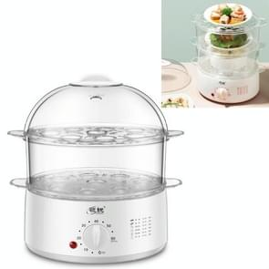 LINGRUI Timer Mini Multi-function Egg Cooker Automatic Power Off Home Breakfast Machine  CN Plug  Specificatie:Double Layers(Grey)