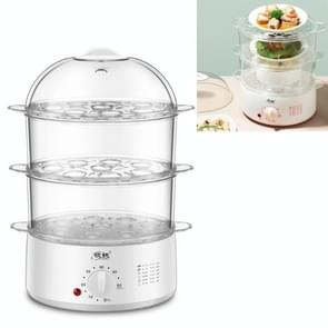 LINGRUI Timer Mini Multi-function Egg Cooker Automatic Power Off Home Breakfast Machine  CN Plug  Specificatie:Three Layers(Grey)