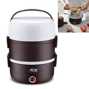 LINGRUI Multi-functie elektrische lunchbox elektrische verwarming isolatie koken mini rijstkoker  CN Plug  Specificatie: Drie laag (Paars)