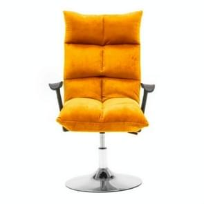 Household Modern Minimalist Computer Recliner Beauty Chair 45cm Disc Flannel Chair(Yellow)