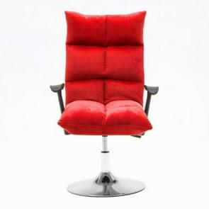 Household Modern Minimalist Computer Recliner Beauty Chair 45cm Disc Flannel Chair(Red)