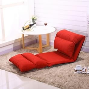 Folding Bed Living Room Modern Lazy Couch Furniture Floor Gaming Chair Sleeping Sofa Bed(Red)