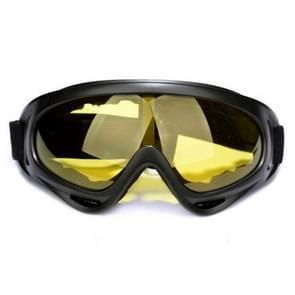 Winddichte UV-bestendige skibril multifunctionele outdoor sportbril(gele lens)
