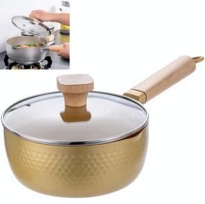 Baby Food Supplement Milk Pot Single Small Hot Pot Stew Steamer (Golden)