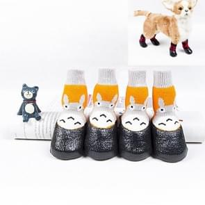 Pet Socks Schoenen Cat Dog Non-Slip Waterproof Socks  Maat: Nummer 4 (Bee)