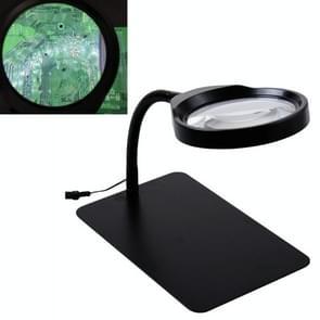 10 keer High-Definition Large Mirror Electronic Print Board Repair Reading Belt 36LED Lamp Plug-In Radio Vergrootglas  CN Plug
