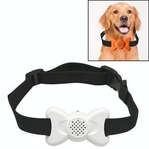 Automatische Voice Control Bark Arrester Collar Pet Supplies Trainer (Wit)