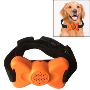 Automatische Voice Control Bark Arrester Collar Pet Supplies Trainer (Orange)