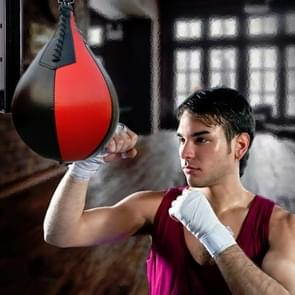 Boksen Speed Ball Fitness Vent Ball Adult Opknoping Gratis Punching Bag (Pear Shape Red & Bllack)