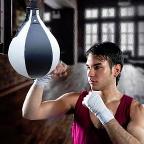 Boksen Speed Ball Fitness Vent Ball Adult Opknoping Gratis Punching Bag (Pear Shape Zwart & Wit)
