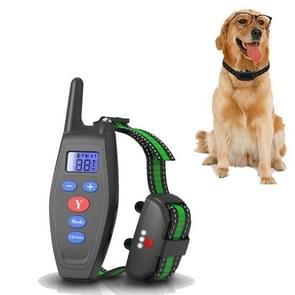Dog Training Device Afstandsbediening Bark Control Opladen Waterdicht Huisdier Training Kraag met Elektrische Schok Trillingen (Zwart)
