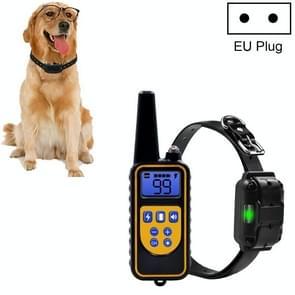 Bark Stopper Dog Training Device Dog Collar met Electric Shock Vibration Warning (EU Plug)