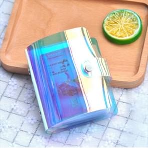 3 PCS Portable Hand Holding Wallet Phantom Laser Credit Card Package Business ID Storage Bag, Random Color Delivery(20 cards)