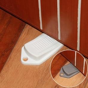 2 PCS Anti-pinch Security Door Stopper Rubber Door Stops(White)