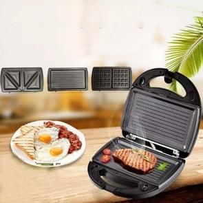 3 in 1 Sandwich Maker Multi-Function Waffle Maker Panini Breakfast Maker  EU Plug