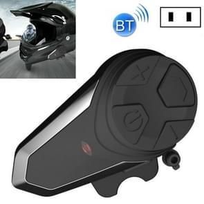 BT-S3 Motorcycle Helmet Bluetooth Headset Motorcycle Intercom Bluetooth Headset  Specificatie:Met Amerikaanse plug charger(Zwart)