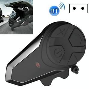 BT-S3 Motorcycle Helmet Bluetooth Headset Motorcycle Intercom Bluetooth Headset  Specificatie:Met EU Plug Charger(Zwart)