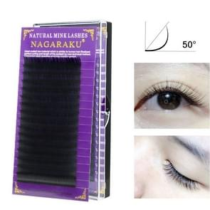 16Rows Natural Makeup Lashes Black False Eyelashes Eye Lashes Extension Tools, Curl:C, Thickness:0.07mm(12mm)