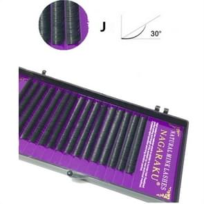 16Rows Natural Makeup Lashes Black False Eyelashes Eye Lashes Extension Tools, Curl:J, Thickness:0.07mm(15mm)