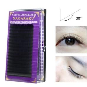 16Rows Natural Makeup Lashes Black False Eyelashes Eye Lashes Extension Tools, Curl:J, Thickness:0.10mm(12mm)