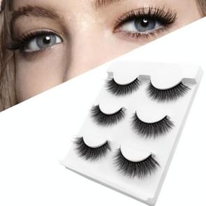 3 Pairs Natural False Eyelashes Fake Lashes Long Makeup 3D Mink Lashes Extension Eyelash Mink Eyelashes for Beauty(11mm)