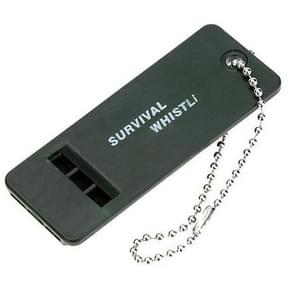 10 STKS Outdoor draagbare multi-audio Survival Whistle (Army Green)