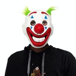 2 PCS Halloween Horror Props Wig Clown Masker