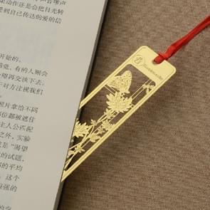 Vintage Beautiful Openwork Metal Bookmarks Students School Stationery(Chrysanthemum)