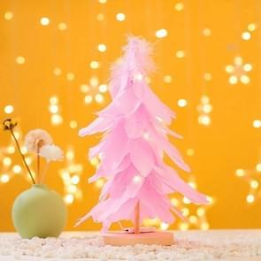 Mini Kerstboom Decoratie Venster Desktop Kerstversiering (Roze)