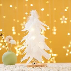 Mini Kerstboom Decoratie Venster Desktop Kerstversiering (Wit)