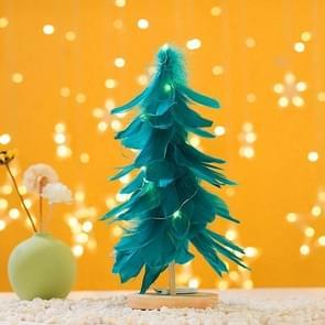 Mini Kerstboom Decoratie Venster Desktop Kerstversiering (Blauw )