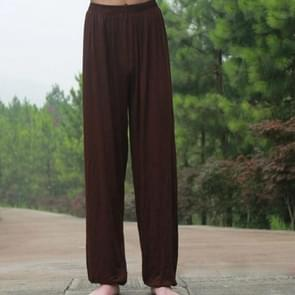 Zooboo Kung Fu Tai Chi broek bloeiers Wushu martial arts Wing Chun opleiding kleding acrobatics broek  maat: S (koffie)