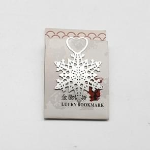 2 PCS Snowflake Patterns Metal Bookmarks Wedding Supplies Stationery Gifts(Snowflake 2)