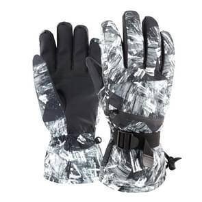Winter thermische ski handschoenen outdoor waterdichte fluwelen handschoenen verdikking Touch Screen motorfiets handschoenen  grootte: M (Zwart)