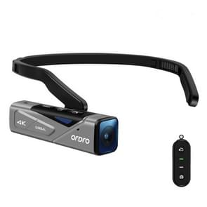 ORDRO EP7 4K Head-Mounted Auto Focus Live Video Smart Sports Camera  Style:With Remote Control(Silver Black)