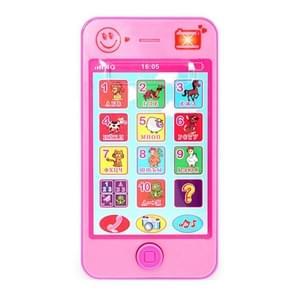 3 stuks speelgoed kinderen educatieve simulatie muziek mobiele telefoon Toy Gift Engels (roze)
